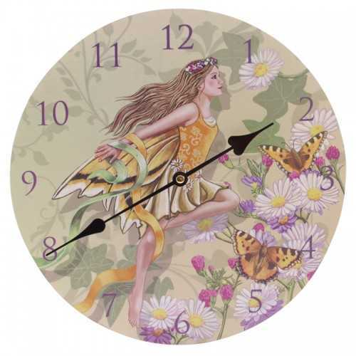 Picture Wall Clock - Faerie with Daisies by Lisa Parker