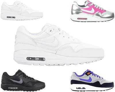 GENUINE GIRLS BOYS NIKE AIR MAX 1 GS PINK GREY LADIES TRAINERS UK 3 - 6