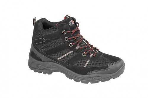 LACE UP HIKING WALKING TRAIL TRAINER BOOTS BLACK