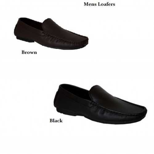 MEN'S LOAFERS SLIP-ON BLACK or BROWN