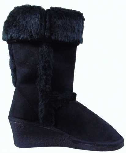ELLA WEDGE WARM LINED BOOT BLACK