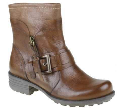 EARTH SPIRIT LEATHER ANKLE BOOT ALMOND BROWN