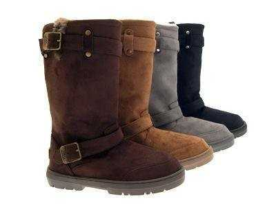 MID CALF BOOTS BIKER STYLE BLACK, GREY,TAN or.BROWN