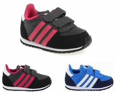 INFANTS ADIDAS ORIGINALS ADISTAR RACER CFI BLACK M17120 BLUE M17119 TRAINERS