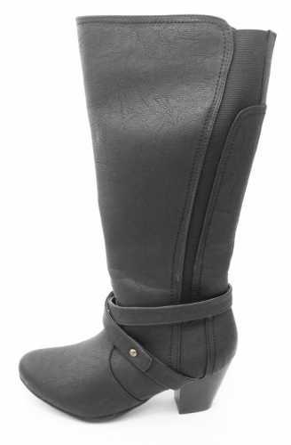 COMFORT PLUS WIDE FIT ELASTIC PANEL BOOTS BLACK # boots