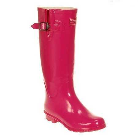 Ladies Fuchsia Pink Wellington Boots # wellies