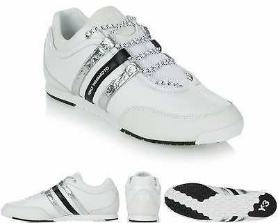 ORIGINAL Y-3 ADIDAS Y3 YOHJI YAMAMOTO BOXING WHITE LEATHER TRAINERS UK 6