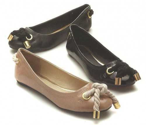 LADIES BLACK NUDE ROPE STYLE FLAT BALLERINA PUMP SHOES