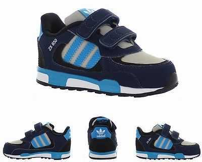INFANTS ADIDAS ORIGINALS ZX 850 CF I NAVY BLUE M19746 TRAINERS