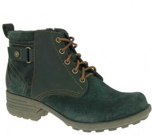 EARTH SPIRIT SUEDE LEATHER CASUAL ANKLE BOOT JUNGLE GREEN