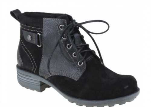 EARTH SPIRIT SUEDE LEATHER CASUAL ANKLE BOOT BLACK
