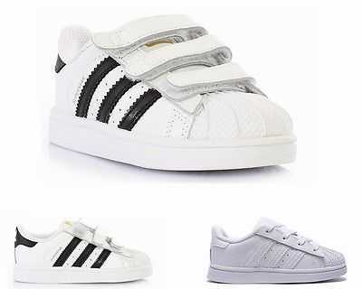 INFANTS ADIDAS ORIGINALS SUPERSTAR FOUNDATION WHITE LEATHER TRAINERS