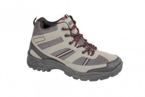 LACE UP HIKING WALKING TRAINER BOOTS GREY