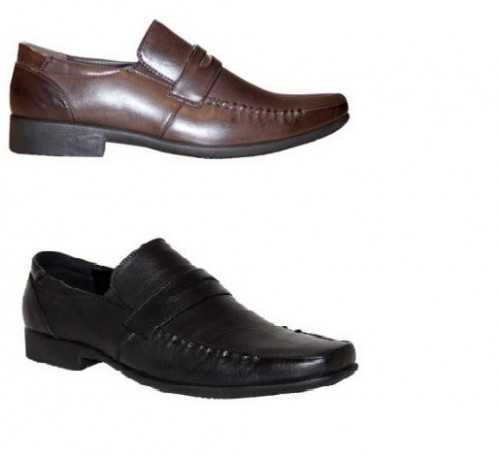 MENS GENTS BLACK or BROWN CLASSIC SLIP ON COMFORTABLE WORK OFFICE FORMAL SHOES # Mens Shoes
