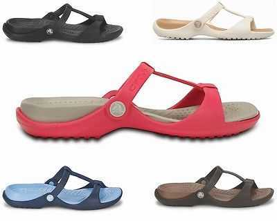 WOMENS CROCS CLEO III FLIP FLOPS SUMMER SHOES GIRLS SANDALS UK 3 - 9