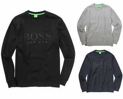 HUGO BOSS GREEN SALBO SWEATSHIRT BLACK GREY BLUE TRACK TOP UK S - 3XL