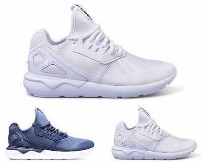 MENS ADIDAS ORIGINALS TUBULAR RUNNER BLUE WHITE TRAINERS 6 - 12