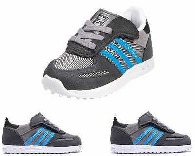 INFANTS ADIDAS ORIGINALS LA TRAINER CF M17129 GREY TRAINERS