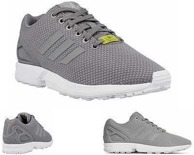 MENS ADIDAS ORIGINALS ZX FLUX M19838 GREY TRAINERS SIZES UK 11