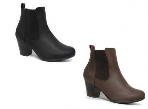 ANKLE CHELSEA BOOTS WIDE FIT COMFORT PLUS BLACK, BROWN # BOOTS