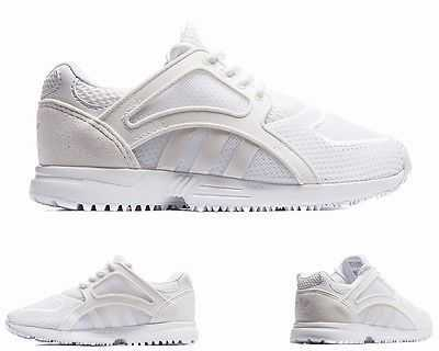 BOYS GIRLS ADIDAS ORIGINALS RACER LITE K WHITE LADIES TRAINERS 3 - 5.5