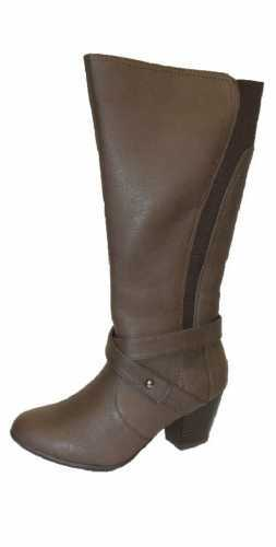 COMFORT PLUS WIDE FIT ELASTIC PANEL BOOTS BROWN # boots