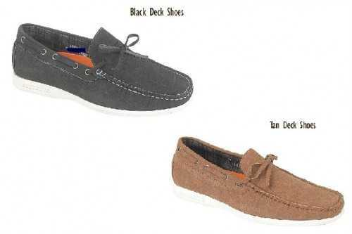 MENS CASUAL DECK SHOES TAN OR BLACK # Deck Shoes