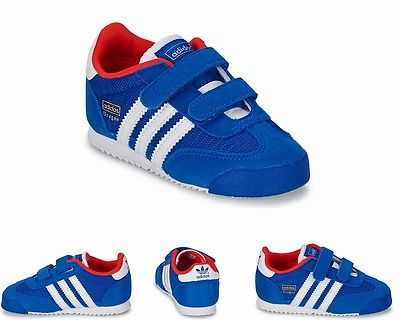 INFANTS ADIDAS ORIGINALS DRAGON CF I ROYAL BLUE M17091 TRAINERS
