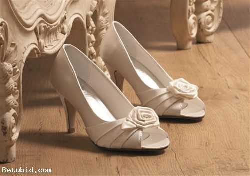 OCCASION SATIN PEEP TOE SHOES IVORY