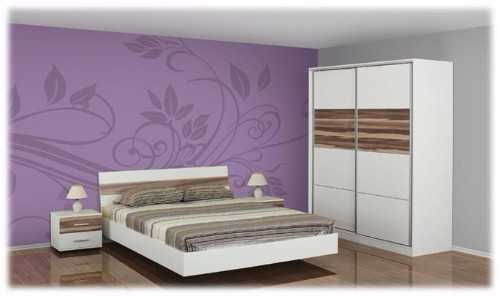 Double bed, Wardrobe & 2 bedside cabinets