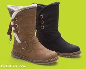 MID CALF BOOTS BLACK or TAN