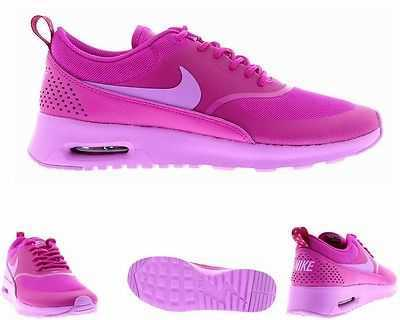 WOMENS NIKE AIR MAX THEA FUCHSIA TRAINERS LADIES RUNNING SHOES UK 3 - 8