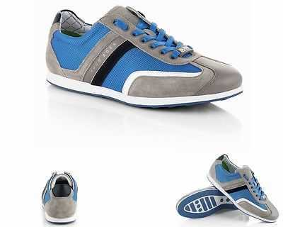 MENS ORIGINAL HUGO BOSS GREEN STIVEN MEDIUM BLUE TRAINERS SIZES UK 6 - 11